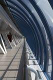 Corridor in a glass brigde. Corridor in a modern glass brigde Stock Photo