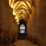 Cathedral corridor Royalty Free Stock Photography