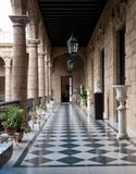 Corridor of a government building, Palacio De Los Capitanes Gene Stock Photo