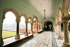 Corridor and historical arches of the Albert Hall Museum. JAIPUR, INDIA: Corridor and historical arches of the Albert Hall Museum. Government Central Museum Stock Image