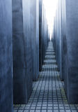Corridor of Holocaust Memorial - Berlin. Geometrical perspective frontal view of the Corridor of Holocaust Memorial in Berlin Stock Photography