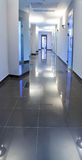 Corridor in a hospital building Stock Photos