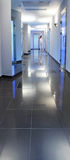 Corridor in a hospital building Stock Images