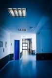 Corridor in hospital. hospital hallway. Hospital interior stock image