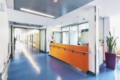 Corridor hospital reception doctor bed stock photos