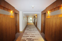 Corridor in hotel Stock Images