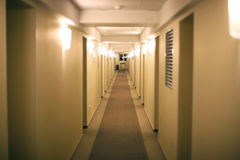 Corridor of hotel Stock Photography