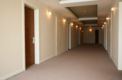Corridor in hotel Royalty Free Stock Images
