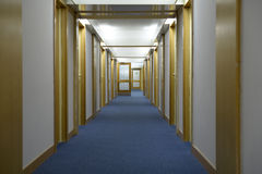 Corridor in a hotel Royalty Free Stock Images