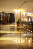 The corridor of the hotel. The hotel building interior design,The indoor environment,Interior design,Business hotel,Business travel Stock Images