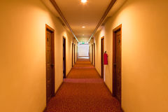 Corridor in the hotel Stock Photo