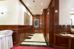 Corridor in hotel restaurant Royalty Free Stock Images