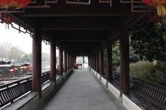 Corridor of Huijing Yard in the South Lake(Jiaxing,Zhejiang,China) Stock Photos
