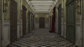 Corridor. Image of a corridor and rooms royalty free illustration