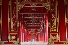 Corridor. Imperial City. Hué. Vietnam Royalty Free Stock Image
