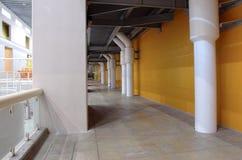 Corridor in an industrial complex. Stock Photos