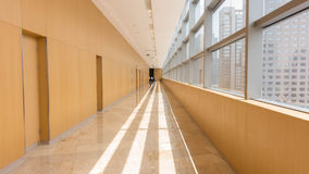 Corridor inside the building. This is captured in a shopping mall corridor inside the building Royalty Free Stock Photos
