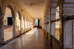 A Corridor inside Mehrangarh fort, Jodhpur Royalty Free Stock Photography