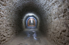 A corridor inside the Turda salt mine Stock Images
