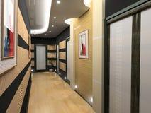 Corridor interior. Modern corridor interior image (3D rendering Stock Photography
