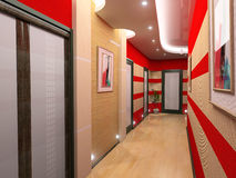Corridor interior. Modern corridor interior image (3D rendering Stock Images