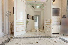 Corridor interior in luxury villa Royalty Free Stock Image