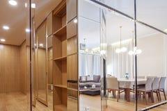 Corridor. Interior of new designer corridor in classic style Stock Images