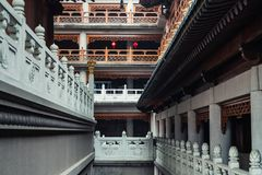 The corridor of Jing `an Temple royalty free stock images