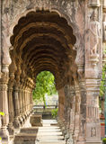 Corridor of krishnapura chhatris indore, india-2014 Royalty Free Stock Photos