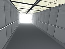 Corridor leading to light Royalty Free Stock Images