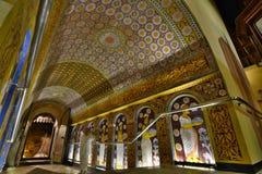 The corridor leading to the main shrine. Temple of the Sacred Tooth Relic. Kandy. Sri Lanka Stock Photos