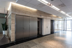 Corridor and lift. Modern interior of office, corridor and lift Stock Photo