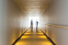 corridor and light at destination Royalty Free Stock Photography