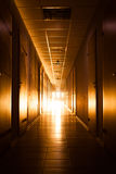 Corridor with light at the end Stock Photography