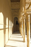 Corridor of Lions Patio. Alhambra. Granada. Spain Stock Images