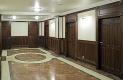 Corridor of the living home. Corridor of the elit living home. Russia, Moscow Stock Images