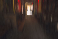 The corridor look with radial blur. The corridor look like speed fast with radial blur Royalty Free Stock Photos