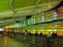 A corridor of a major airport stock photos
