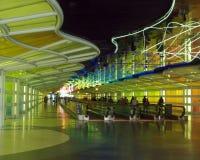 A corridor of a major airport stock photography