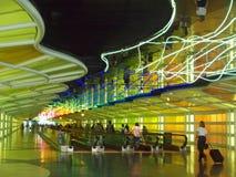 A corridor of a major airport royalty free stock photos