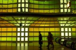 A corridor of a major airport Royalty Free Stock Photography