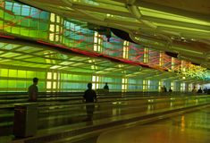 A corridor of a major airport stock images