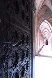 Corridor in Malbork Castle stock image