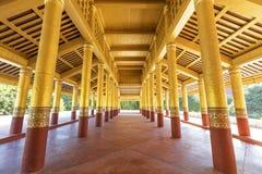 Corridor in Mandalay Palace Royalty Free Stock Photography