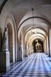 Corridor of mediaeval building. Corridor of mediaeval palace building,  corridor of cathedral Stock Photography