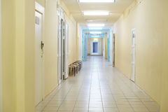Corridor in a medical center Royalty Free Stock Image