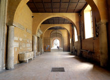 Corridor Of Medieval Abbey Royalty Free Stock Photo
