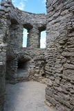 The corridor of medieval fortress in Carpathians Stock Image