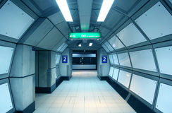 Corridor in the metro. Royalty Free Stock Photography