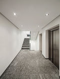 Corridor of a modern apartment building Royalty Free Stock Images